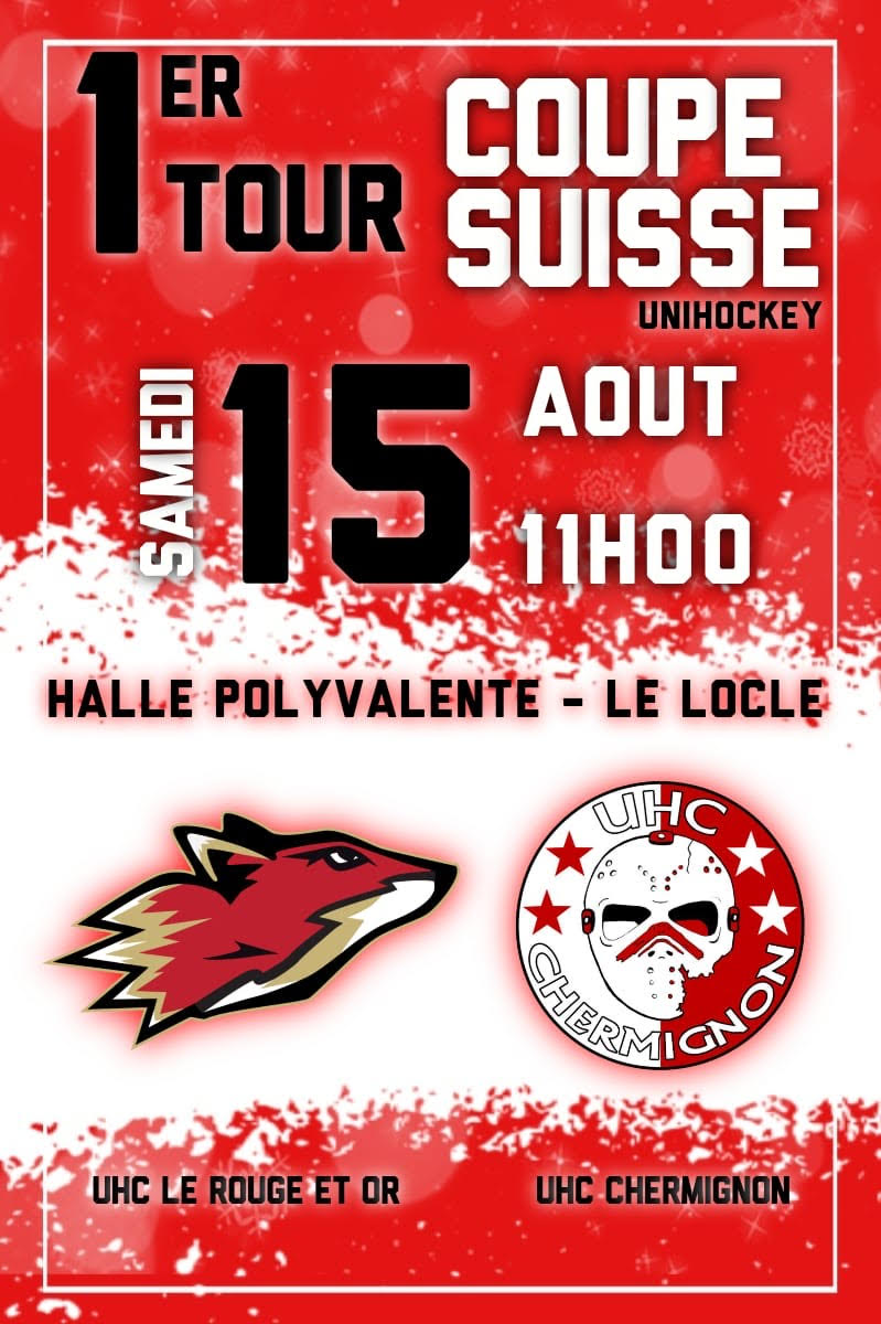 coupe suisse uhc rouge et or