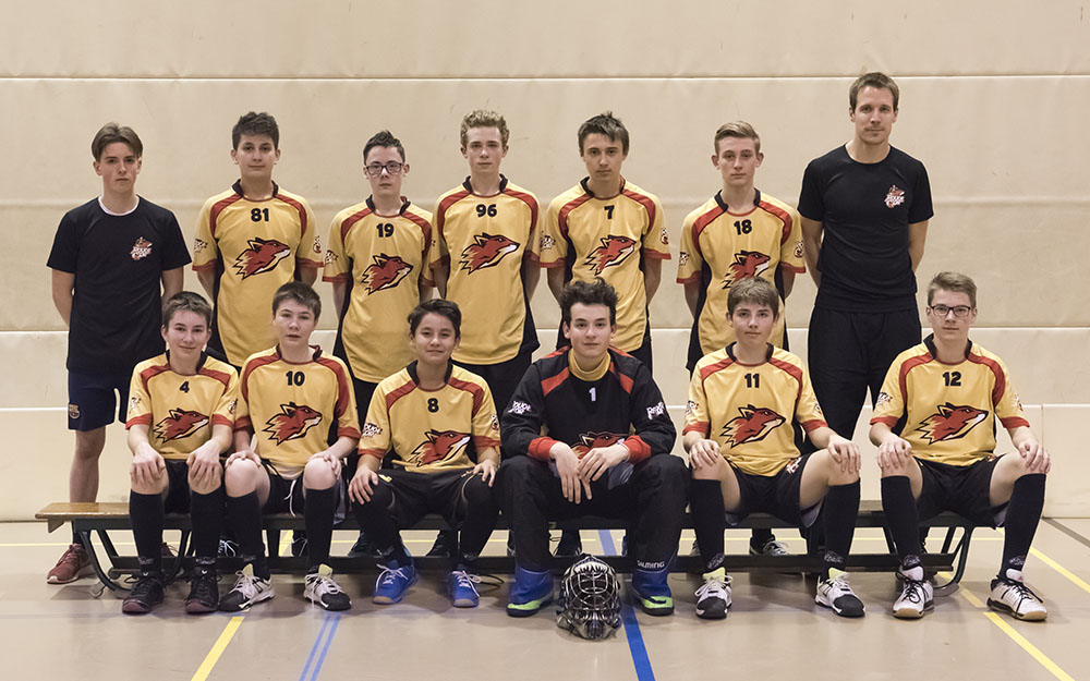 Juniors B - le Rouge et Or, club de unihockey Le Locle