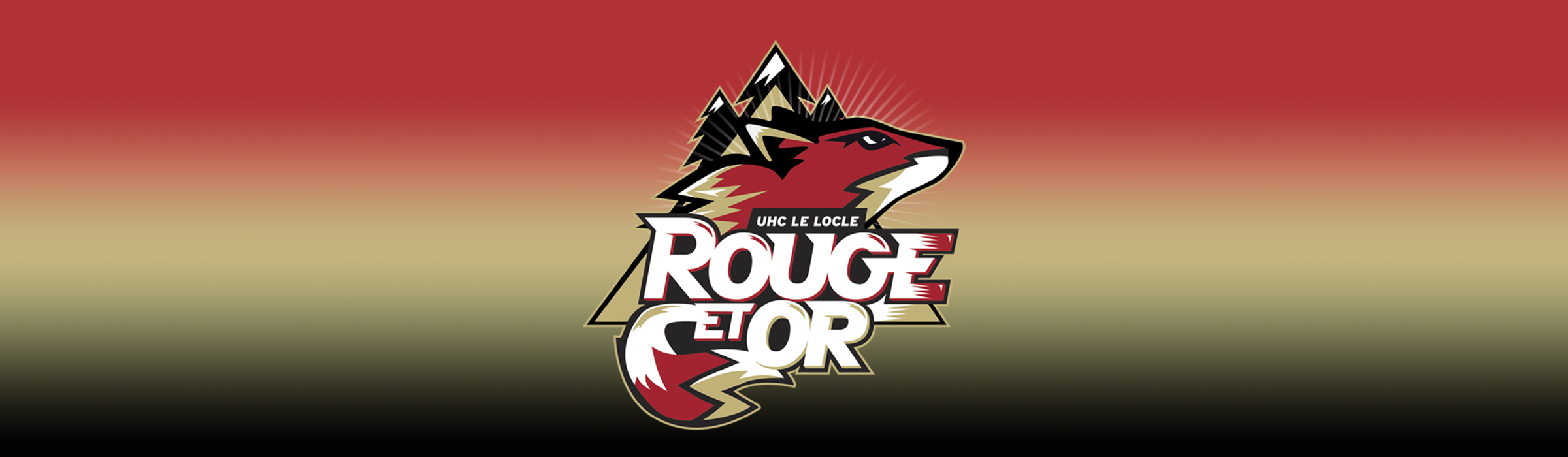 Logo rouge et or - unihockey le Locle