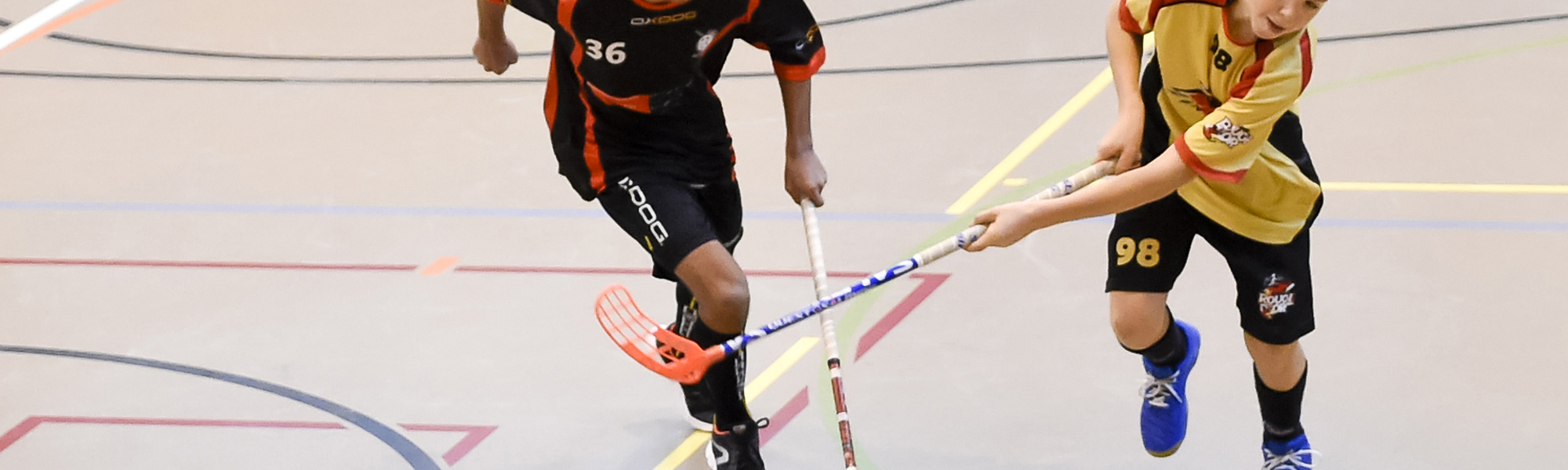 rouge et or le locle, club de unihockey