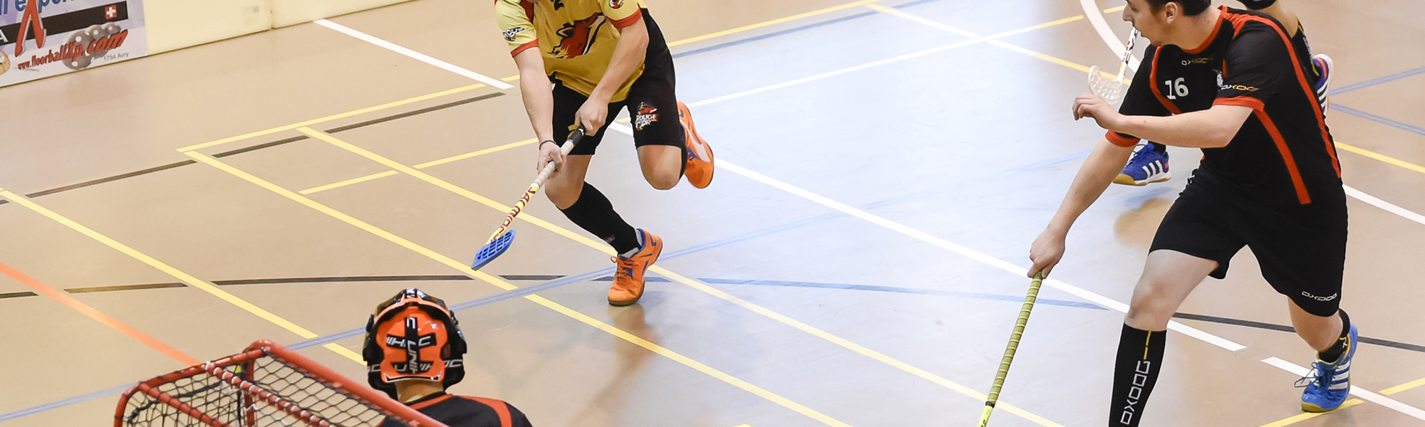rouge et or, club de unihockey le locle