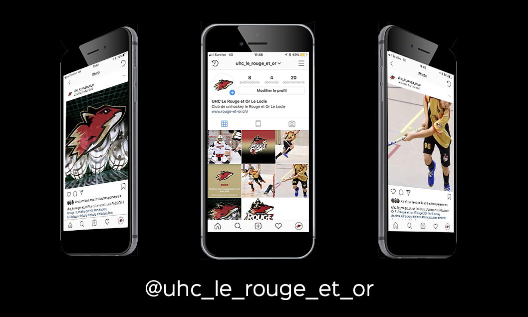 Page Instagram du UHC Le Rouge et Or